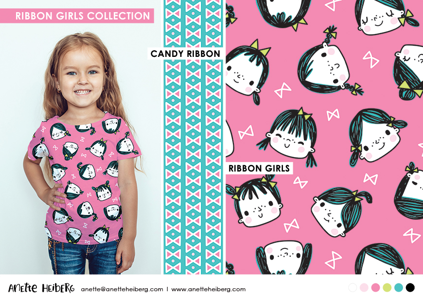 Pattern collection: Ribbon Girls